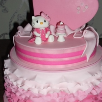 And Kitty Both On The Same Cake   Both Fleur's best friends had to come on the cake, Minnie and Kitty.All fondant