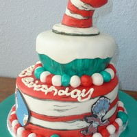 Dr Suess   Fondant Dr Suess , hat is rice crispy treats