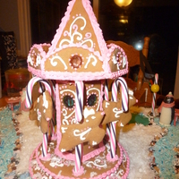 Gingerbread Carousel With Reindeer   Gingerbread Carousel with reindeer.