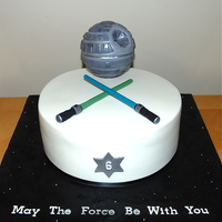"Star Wars Cake 10"" chocolate mud cake for a Star Wars fan."