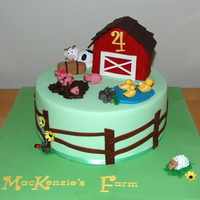 "Farm Cake 10"" chocolate mud cake for a little boy who loves animals and farms."