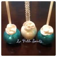 Gem Teal And White Cake Pops Gem Teal and White Cake Pops