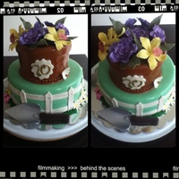 Garden Themed Birthday Cake Garden Themed Birthday Cake