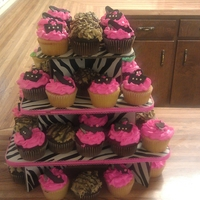 Zebra Bridal Shower Zebra Bridal Shower Cupcakes.