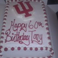 Indiana Hoosiers Birthday Cake   IU is a frozen buttercream transfer