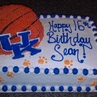 Kentucky Wildcats Birthday Cake   Sheet cake is the wildcats logo a fbct