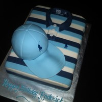 Blue Polo Shirt With Cap