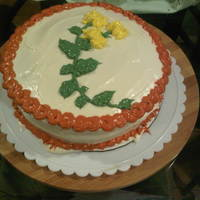 Cake 4 My Bro cream cheese frosting I thought this one was cute, another red velvet.
