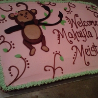 Monkey Cake   Modeling chocolate and butter cream