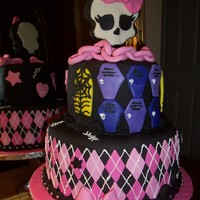 Monster High Cake This is a cake that I made for a little girl who is crazy about Monster High. I really had no idea what it was, but it is a group of...