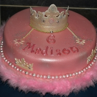 Princess Vanlla sponge covered with fondant with gumpaste crown with added sparkle and bling .