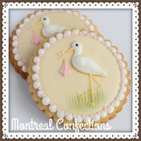 Stork & Baby Bundle Decorated Cookie Classic stork design inspired by Eddie Spence, tutorial for this design on my YouTube channel