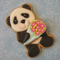 Cute Panda Cookie Done Using The Wilton Bear Cutter Tutorial To This Cookie Available On Yt Cute panda cookie done using the wilton bear cutter, tutorial to this cookie available on YT.