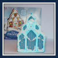 Frozen Gingerbread Castle This is a ready made cookie kit which I jacked up with my own icing & design. You can see my process on YouTube