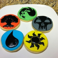 Magic The Gathering   Mana symbols. Made these for my sons birthday. He loves to play this. I really don't understand it. Oh well.....