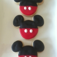 Mickey Mouse Sugar Cookies   Small Mickey Mouse sugar cookies decorated with royal icing