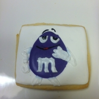 Purple M & M Sugar Cookie