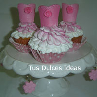 Ballerina Cupcakes   made in buttercream and fondant topper