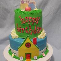 Max & Ruby Simple Max & Ruby two tier cake. Chocolate Fudge and French Vanilla Iced in Vanilla Buttercream. Everything is edible with the...