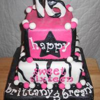 Sweet 16 Hot Pink Zebra
