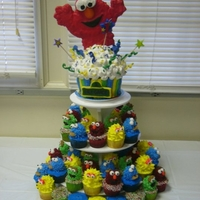 Sesame Street Cupcake Tower..featuring Elmo!