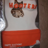 Hooters Birthday Cake Did the Hooters owl by freehand! What a funny cake to make.