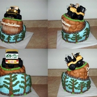 Topsy Turvy Graduation Cake Graduation Cake topped with a jeep! On the road to success.