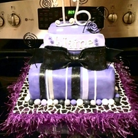 Glitter   Sweet 16 Purple Black Silver