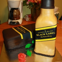 Black Label Whisky Cake