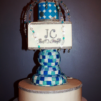 Aquarius Winter Cake A jeweled top was inspired by Colette Peters
