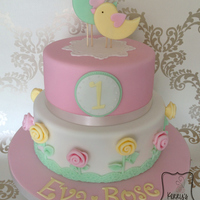 Chick Amp Rose Birthday Cake