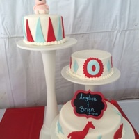 Angelica's Baby Shower Circus theme baby shower cake for my niece. This was the first fondant cake I have ever done