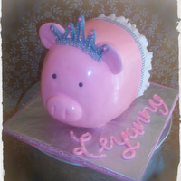 Piggy Bank Birthday Cake