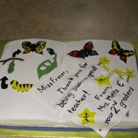 Life Cycle Of A Butterfly This was a cake for a student teacher whose best lesson taught was about the life cycle of a butterfly. Vanilla cake with Cinnabon flavored...