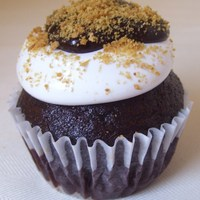 S'more Cupcakes These have a graham cracker crust bottom with a gourmet chocolate cupcake, topped with marshmallow frosting, chocolate ganache and graham...