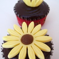 Sunflower Cupcakes These cupcakes were made for my mother-in-law for her birthday today. The sunflowers signify her volunteer work with the hospice where...