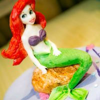 Little Mermaid Cake   Edible Little Mermaid Topper made with modeling chocolate.