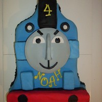Gordon The Train Chocolate Gordon Train with BC frosting and Fondant. Thanks for all the tutorials on CC.
