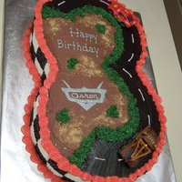 'cars' Birthday Cake This was a 'Cars' themed cake I made for a co-worker's grandson. I saw something similar on this website and loved it. The...