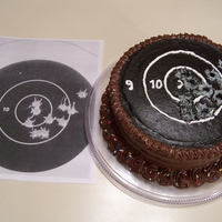 Target Practice Cake This was a birthday cake I made for a friend's husband who is a police officer and does a lot of target shooting competitions. She...