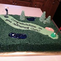 Retiring To The Golf Course A retirement cake for a gentleman who will probably be spending much more time out on the course now! Purchased the Wilton golfer set, but...