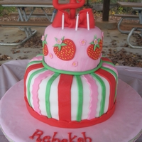 Strawberry Shortcake Birthday Cake This was for my daughter's 4th birthday. I used the Summer's Scratch strawberry cake recipe found here and chocolate WASC with...
