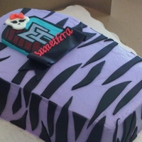 Monster High Coffin Cake   I made this for a wonderful customer who happens to be my neighbor.