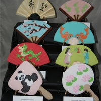Fan Cookie Display this was my entry for the 2011 NCACS competition.