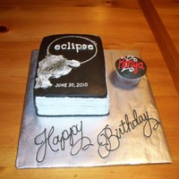 Eclipse Movie Cake Cake made to look like the book...although I had a hard time with the clouds. This was a birthday cake for a girl who had her party at the...