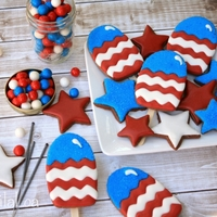 Patriotic Cookies Patriotic Popsicle cookies for the 4th of July