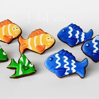 Under The Sea Cookies I LOVE making coordinating cakes and cookies!