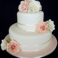 2 Tier With Sugarpaste Roses For The Lovely Emma