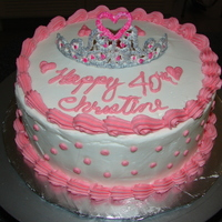Christine's Princess Cake Princess cake, crown is royle icing paint with silver food coloring. cake is vanilla with canolli filling butter cream frosting.