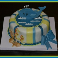 Baby Shower Whale Cake...